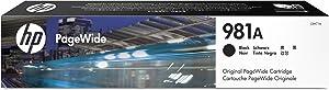 HP 981A Black Original PageWide Cartridge (J3M71A) for HP PageWide Enterprise Color Flow MFP 586z 586dn 586f HP PageWide Enterprise Color 556dn 556xh