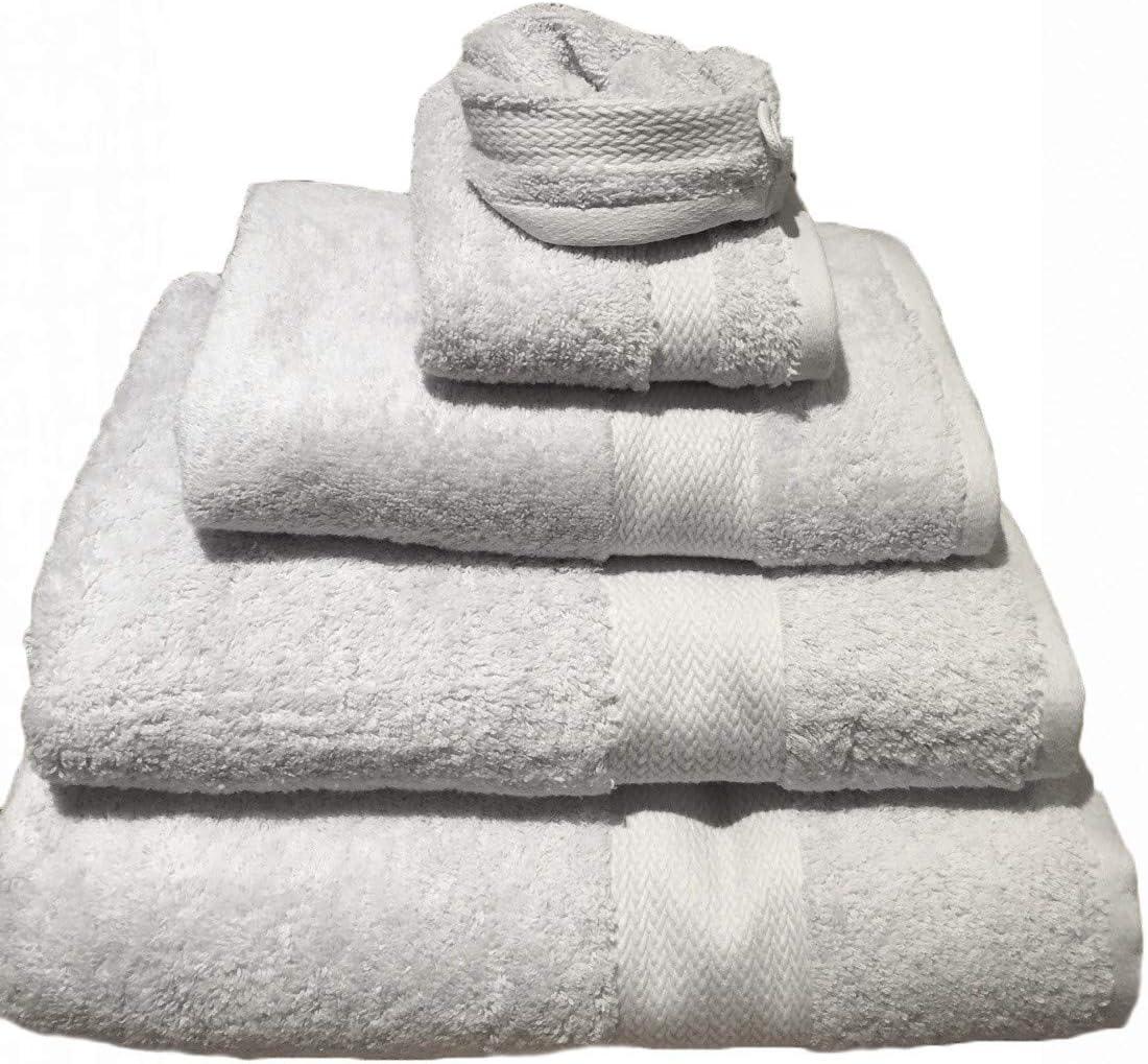 Salomé Prestige Toalla de baño algodón Peinado 550 gr/m² -Gris Perle: Amazon.es: Hogar