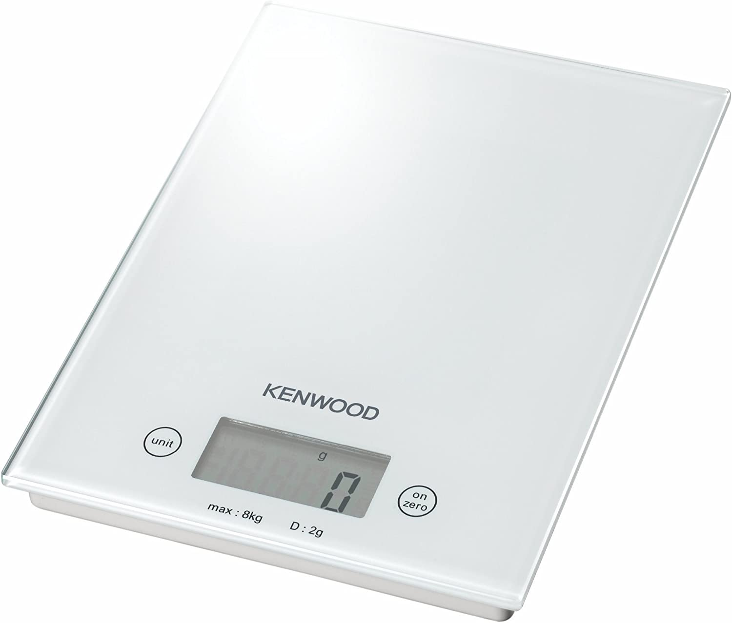 Kenwood DS401 Báscula digital de cocina, vidrio, color blanco ...