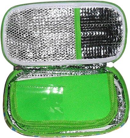 cypressen - Bolsa isotérmica de insulina para medicamentos (poliéster y láminas de Aluminio, portátil, aislada): Amazon.es: Hogar