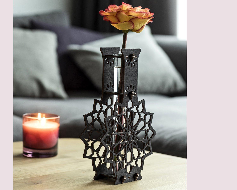 Star Shape Vase, Eco Friendly Gift, Housewarming Gift, Bud Vase Wooden, Rustic Table Centerpiece, Handmade Test Tube Vase, Rustic Home Decor