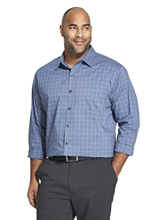 863cf680dbcbf Amazon.com  Van Heusen Men s Tall Traveler Stretch Non Iron Long Sleeve  Shirt  Clothing