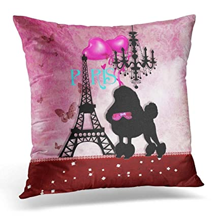 Amazon Throw Pillow Cover Cute Dog French Paris Girly Chic Magnificent Girly Decorative Pillows