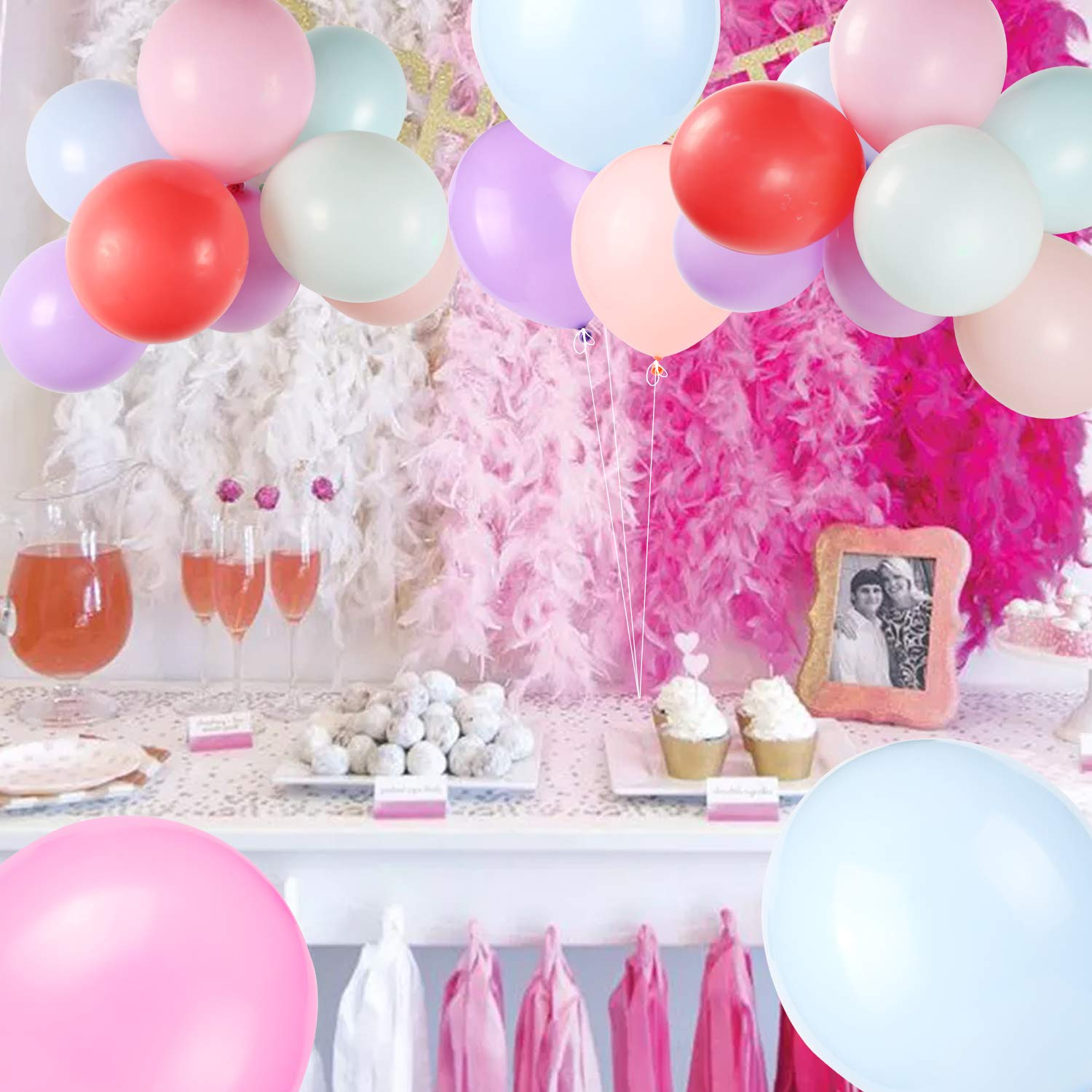 Konsait Bachelorette Party Balloons Pack of 30 Mixed White Pink Colorful Bachelorette Balloons Funny Rude Balloons for Party Supplies