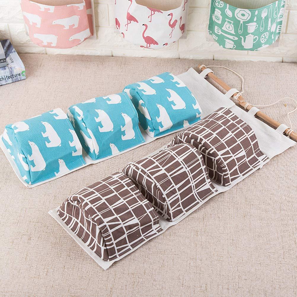 Wand H/ängende Aufbewahrungstasche mit 3 Taschen aus Baumwollleinen Wand Deko Schlafzimmer Schlafzimmer B/üro AimdonR H/ängender Organizer Badezimmer