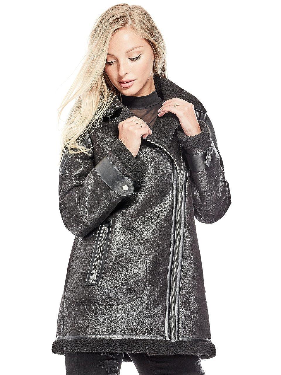 GUESS Women's Defina Longline Moto Jacket