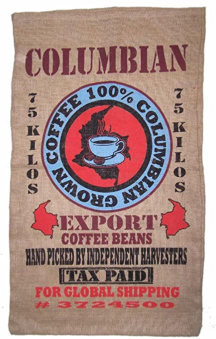 Brand New Novelty Columbian Coffee Storage or Decor Burlap Bag  sc 1 st  Amazon.com & Amazon.com : Brand New Novelty Columbian Coffee Storage or Decor ...