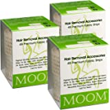 MOOM Waxing Strips for Women Polycotton, Specially Engineered for Maximum Hair Removal – Perfect for Bikini, Leg, Eyebrow, Bo