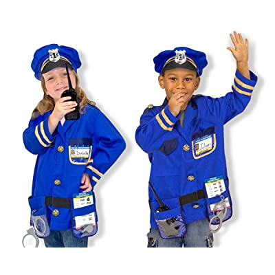 POLICE OFFICER COSTUME SET--Toys & Games-Creative Play-Role Play: Everything Else