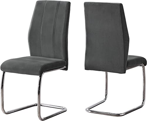 Monarch Specialties I CHAIR-2PCS / 39″ H Velvet/Chrome DINING CHAIR