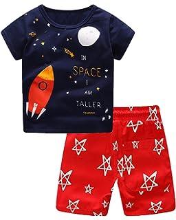 ff6f0c72b1a8 Sladatona Little Boys  Cotton Clothing Short Sets Summer Cotton Shirts  Pants Toddler Clothes