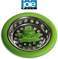 Joie MSC Ribbit Frog colador de fregadero de acero inoxidable verde cesta de cocina ba/ño Clog Prevenci/ón Filtro de drenaje tap/ón agujero residuos