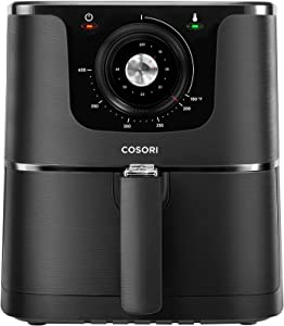 COSORI Air Fryer Large Hot Electric Oven Oilless Cooker With Deluxe Temperature Knob Control, Nonstick Basket Recipe Cookbook Included, Quart, 3.7 QT-Mechanical