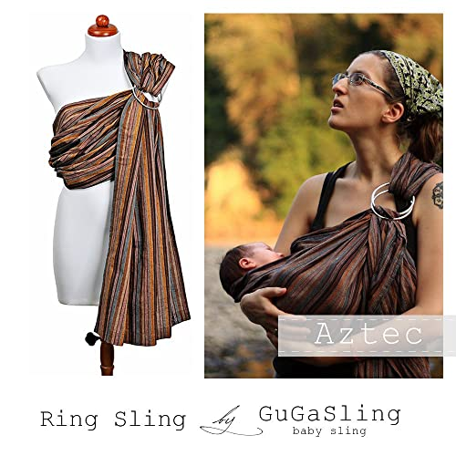 GuGaSling Aztec Baby ring sling with gift bag