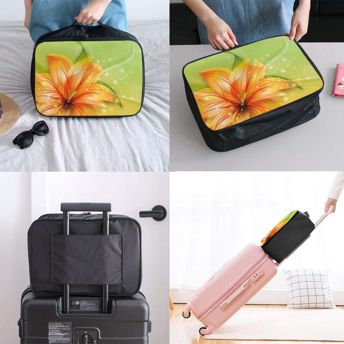 JTRVW Luggage Bags for Travel Lightweight Large Capacity Portable Duffel Bag for Men /& Women Orange Lilies Travel Duffel Bag Backpack