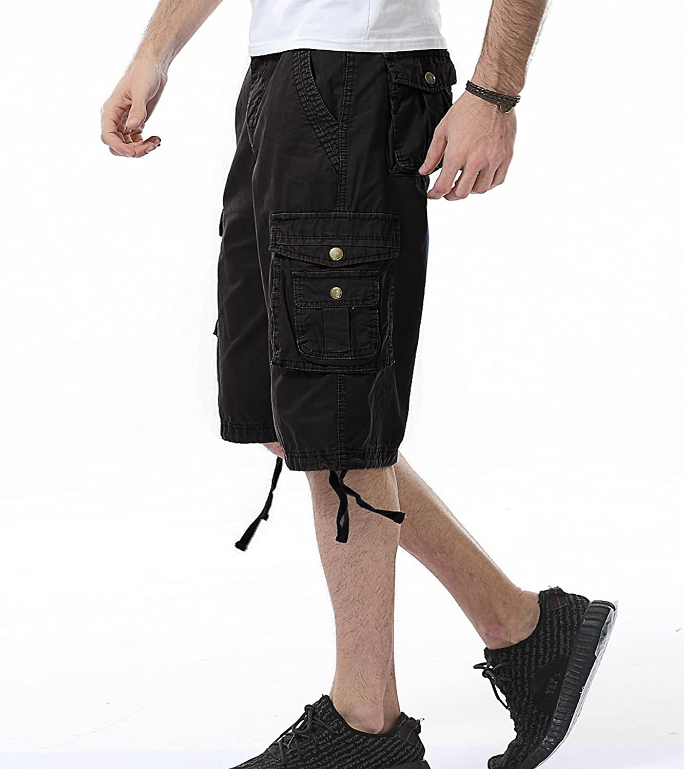 DONGD Mens Cargo Shorts Cotton Relaxed Fit Camouflage Camo Cargo Short