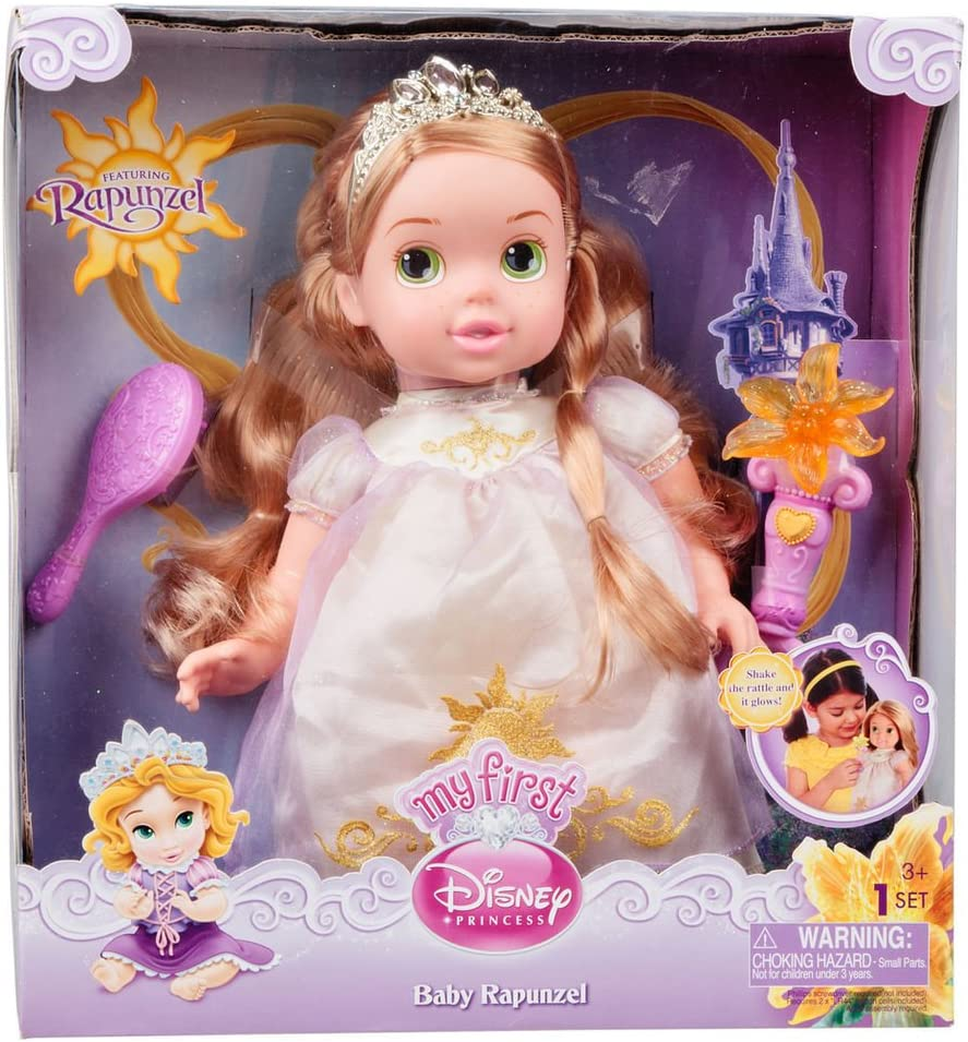 Amazon Com My First Disney Princess Baby Deluxe Rapunzel Toys Games