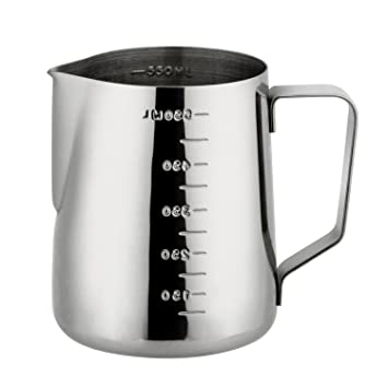 Milk Frothing Pitcher,JoyFork Professional Milk Frothing Pitchers, Stainless Steel Pouring Jug, Milk Frother Cup With Measurement Scales, Milk Pitcher ...