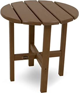 """product image for POLYWOOD RST18TE Round 18"""" Side Table, Teak"""