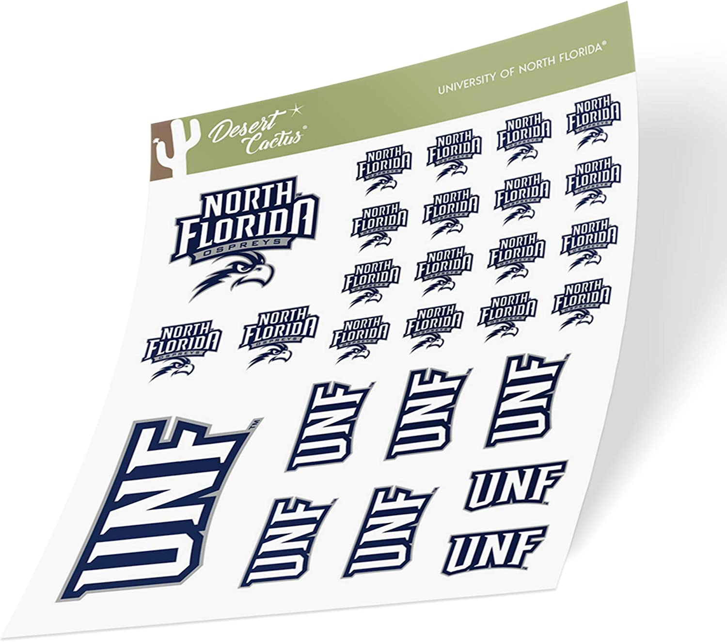 University of North Florida UNF Ospreys NCAA Sticker Vinyl Decal Laptop Water Bottle Car Scrapbook (Type 1-1 Sheet)