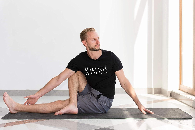 Yoga Pilates Top Grande Taille S-XXL Sport Fitness M/éditation Voyage V/êtements Cadeau Tapis Mat Liege Accessoires Brique Tee-Shirt Namaste Femme Homme Tshirt Manches Courtes Coton