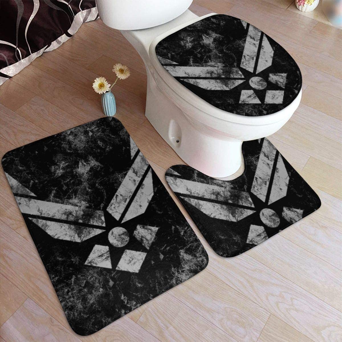 Amazon Com Vbcdgfg Bathroom Rugs Sets 3 Piece Us Air Force Sign Badge Memory Foam Bathroom Mats Set Bath Rug Contour Mat Lid Cover Non Slip Home Kitchen
