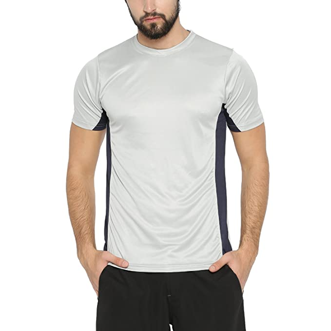 9f11549b3292 Campus Sutra Men s Polyester Sport Jersey T-Shirt (Grey, Small ...