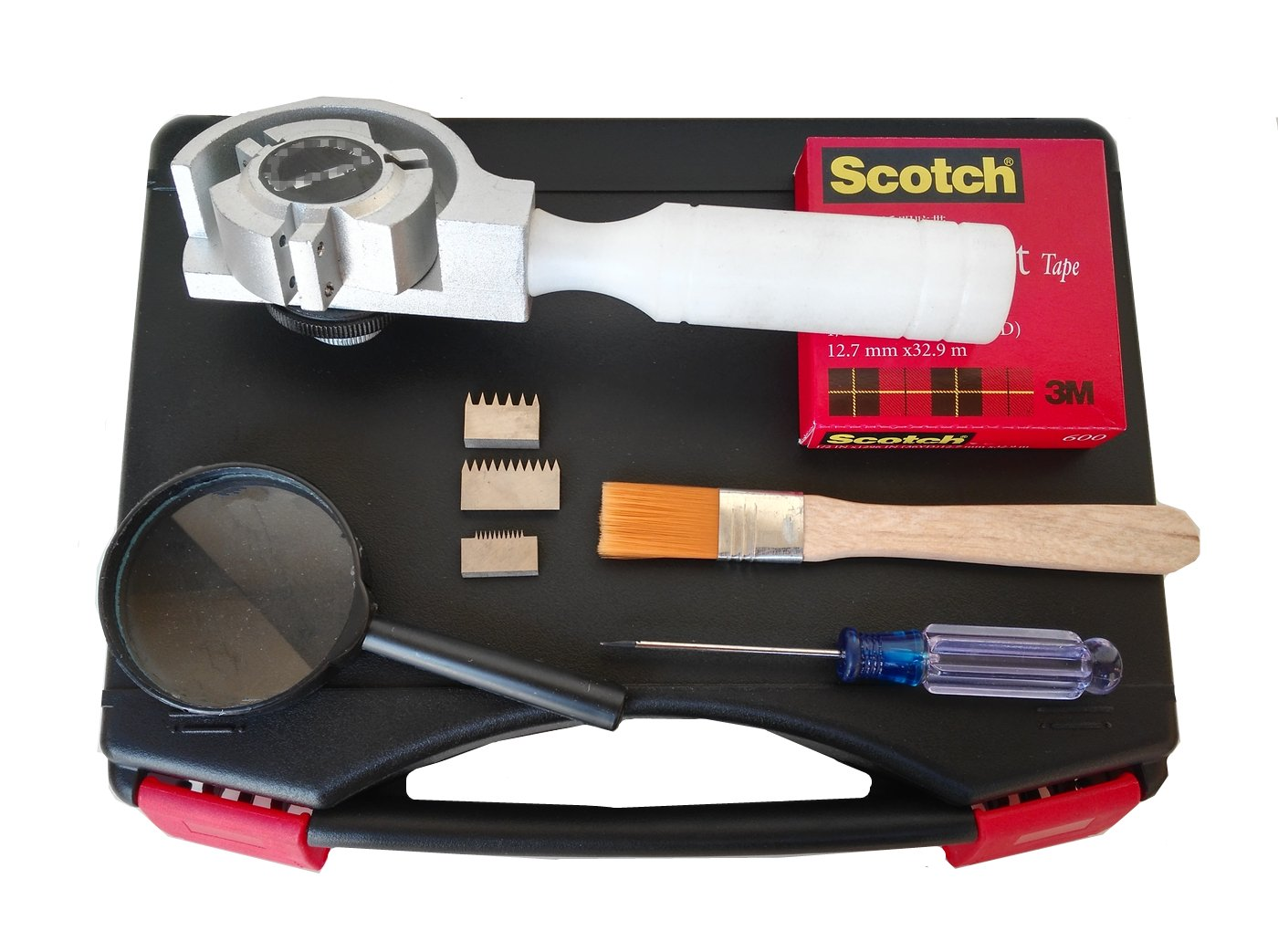 GLTL 3-in-1 Rotating Cross Hatch Adhesion Tester Cross-Cut Tester Kit with 1mm/2mm/3mm Blades