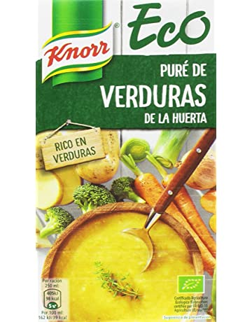 Knorr Eco Puré de Verduras de la Huerta - Paquete de 8 x 1 L -