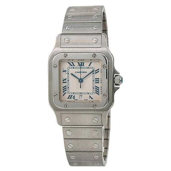 Cartier Santos galbee Cuarzo Mens Reloj 1564 (Certificado) de Segunda Mano: Cartier: Amazon.es: Relojes