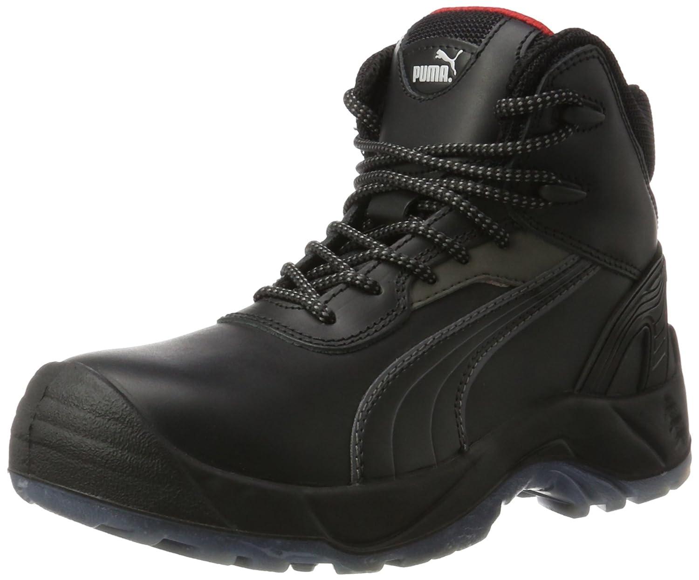 Puma Safety Shoes Pioneer Mid S3 SRC, Puma 630100-202 Unisex-Erwachsene Sicherheitsschuhe, Schwarz (schwarz 202), EU 39  39