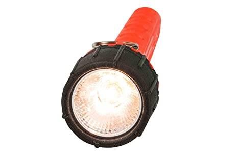 Explosion Proof Halogen Flashlight - Runs off 2 AA Batteries - Class I, Div. I - Submersible to 100 - Basic Handheld Flashlights - Amazon.com