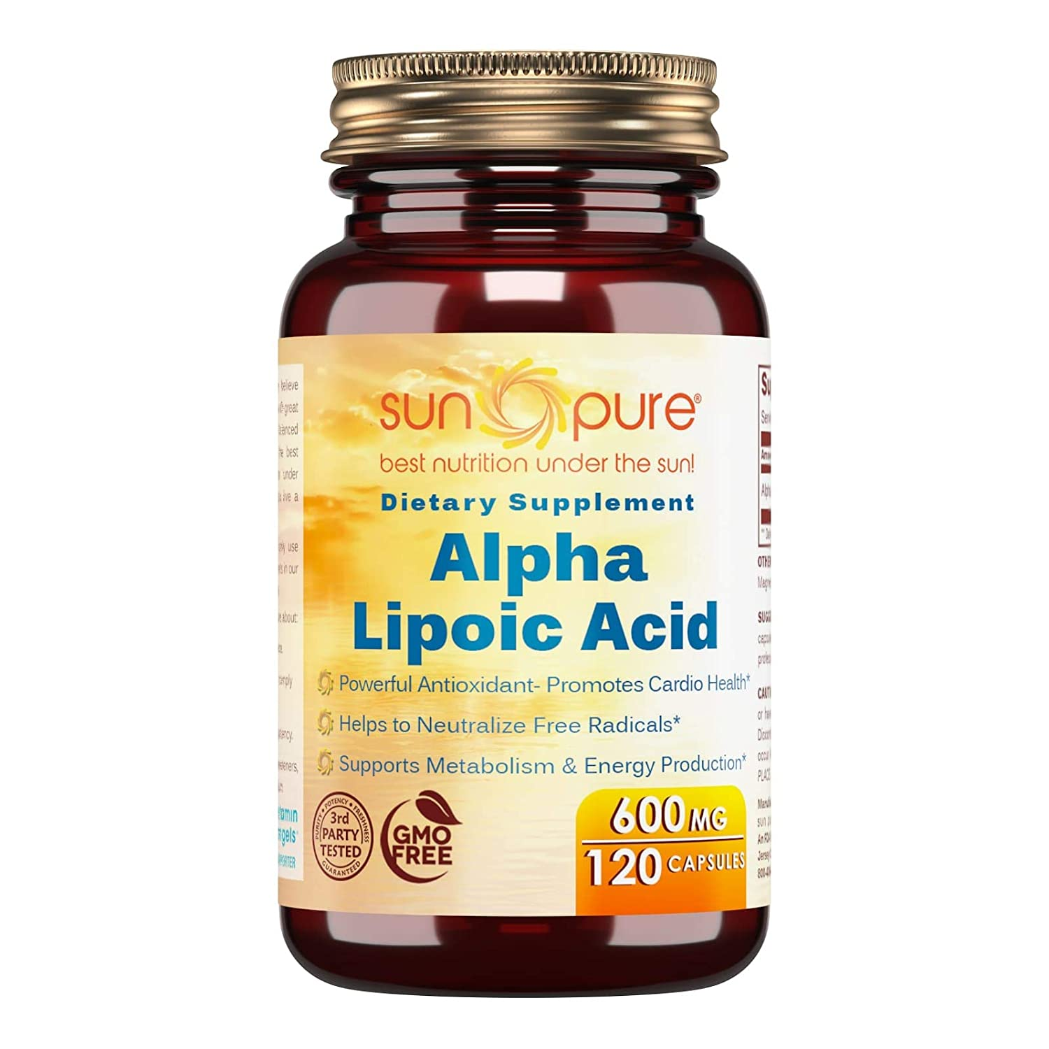 Amazon.com: Sun Pure Premium Quality Alpha Lipoic Acid 600 ...