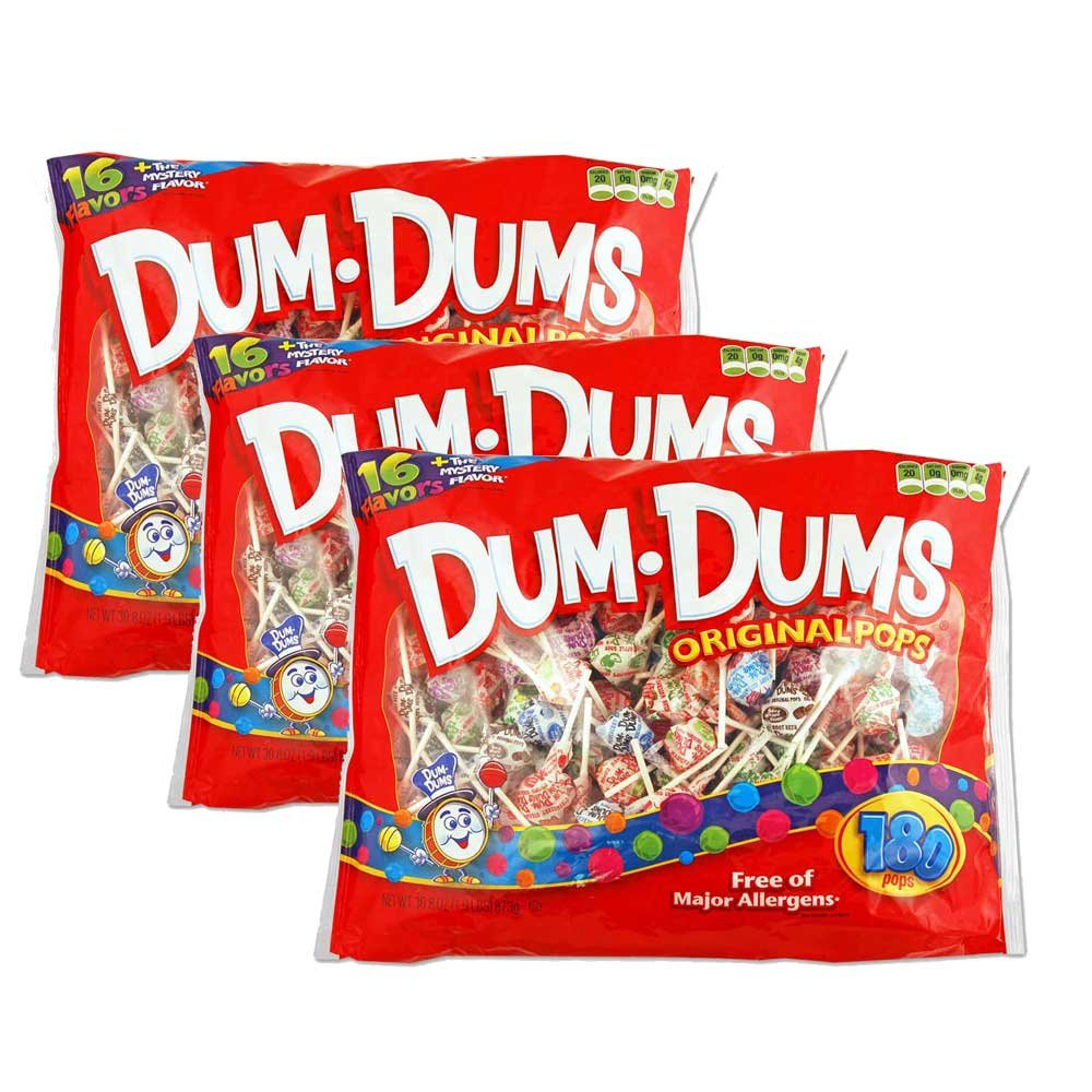 Dum Dums - 180 count bag packed 3s by Dum Dums
