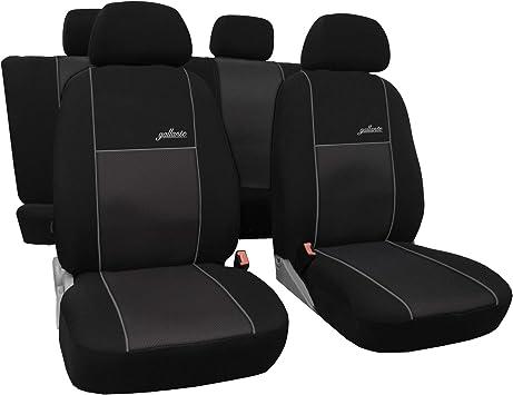 Auto Sitzbez/üge Kunstleder Rot f/ür Airbag geeignet 1+1 Autositze vorne und 1 Sitzbank hinten teilbar 2 Rei/ßverschl/üsse f/ür Vordersitze und R/ückbank 3er Set Saferide Autositzbez/üge PKW universal