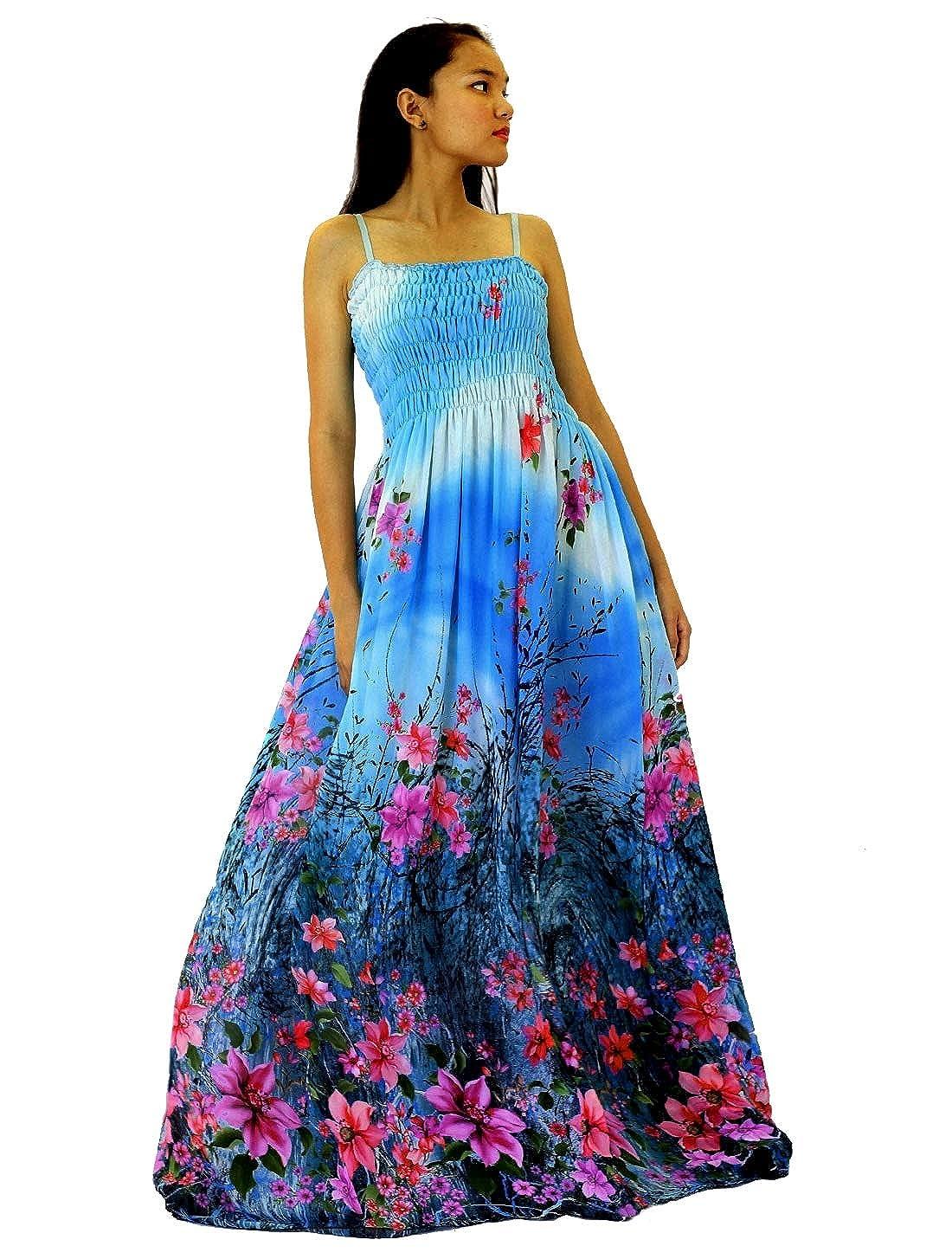 Maxi Dress Women Plus Size Party Wedding Guest Haiwaiian Beach Floral  Sundress