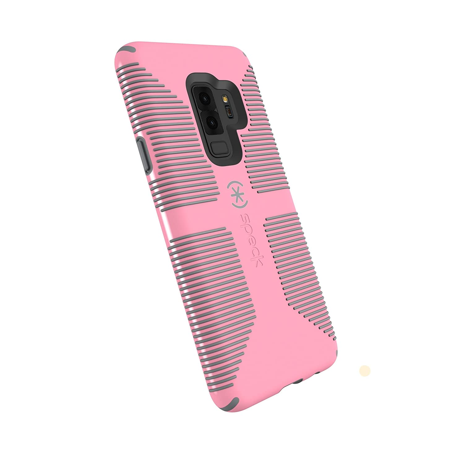 competitive price 82725 593bd Speck Products Compatible Phone Case for Samsung Galaxy S9 Plus, Candyshell  Grip Case, Island Pink/Gravel Grey