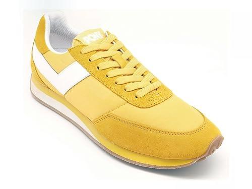 Pony - Zapatillas de Lona para Hombre Amarillo Size: 41 EU