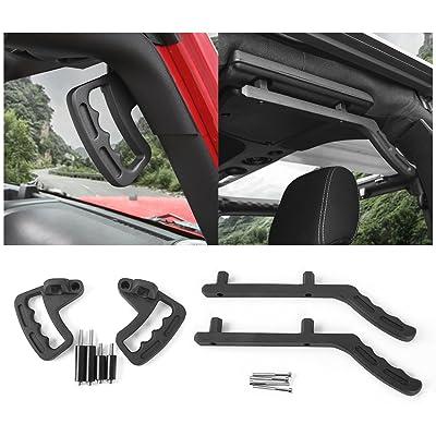Front & Rear Aluminum Grab Handles Grip Handle Grab Bars for Jeep Wrangler JK JKU Sports Sahara Freedom Rubicon X & Unlimited X 2 Door 4 Door 2007-2020: Automotive