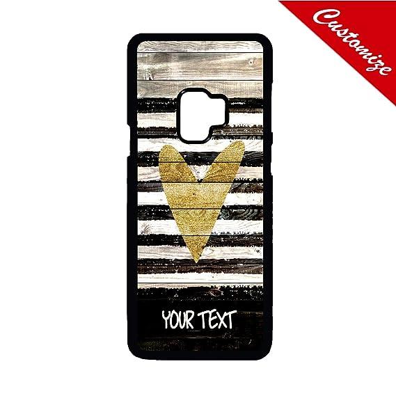 Amazon com: Artsbaba Personalized Galaxy S9 Case, Wood Gold