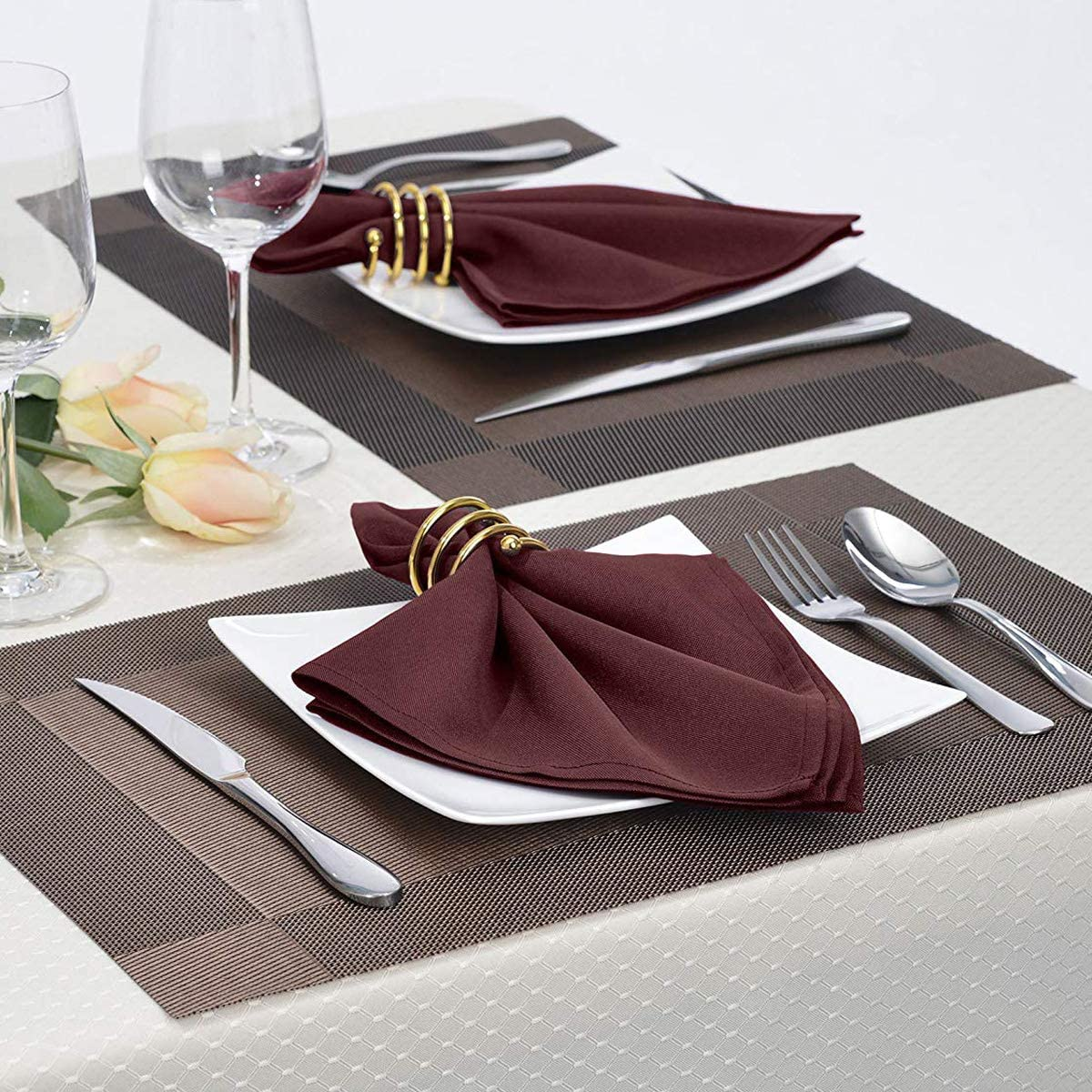 4X Cloth Napkins for Wedding Party Restaurant Dinner Family Gatherings Washable
