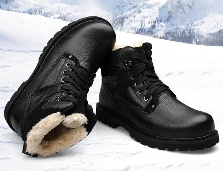 GTYMFH Winter Winter Winter Warme Schuhe Männer Hohe Hilfe Runder Kopf Martin Stiefel 97269a