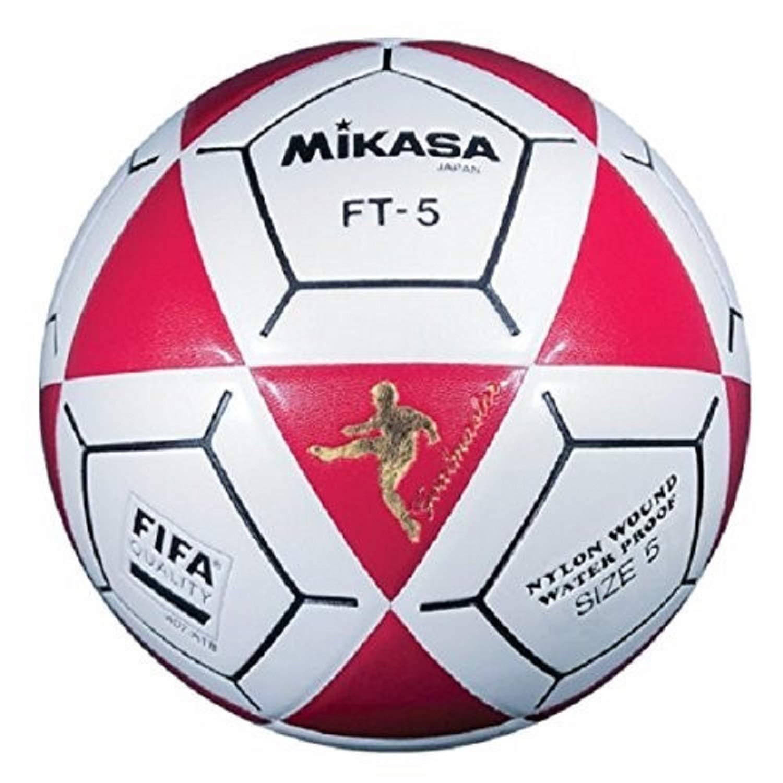 Mikasa FT5 Goal Master Soccer Ball (Red/White, Size 5)