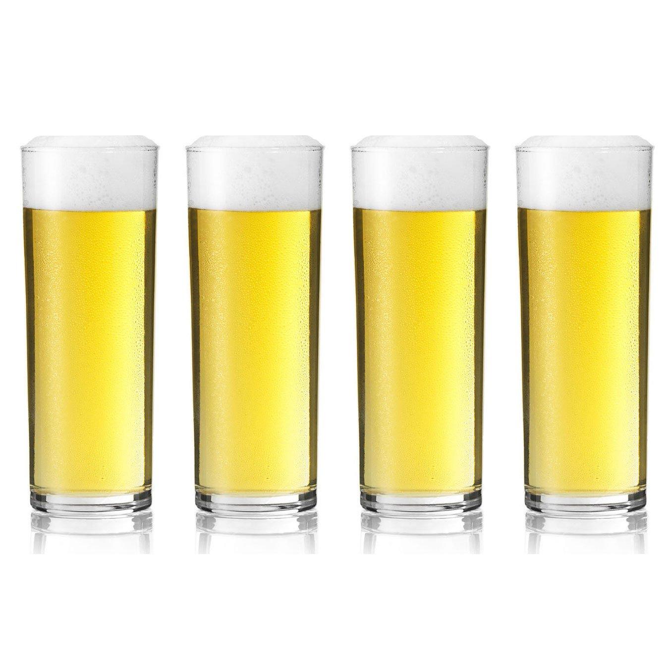 Stange Kolsch German Beer Glass - 200ml - Set of 4 Glasses