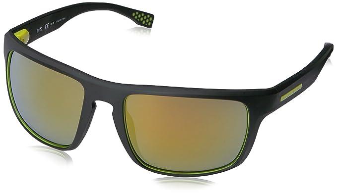 Hugo Boss Boss 0800/S C4 UDK Gafas de Sol, Negro (Bkrubbr Yellow/Brw Yelsp Pzole), 58 Unisex-Adulto