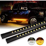 OFFROADTOWN 2pcs 70 Inch Truck Light LED Board Running Light for Extended & Crew Cab Trucks White/Amber Turn Signal Side…