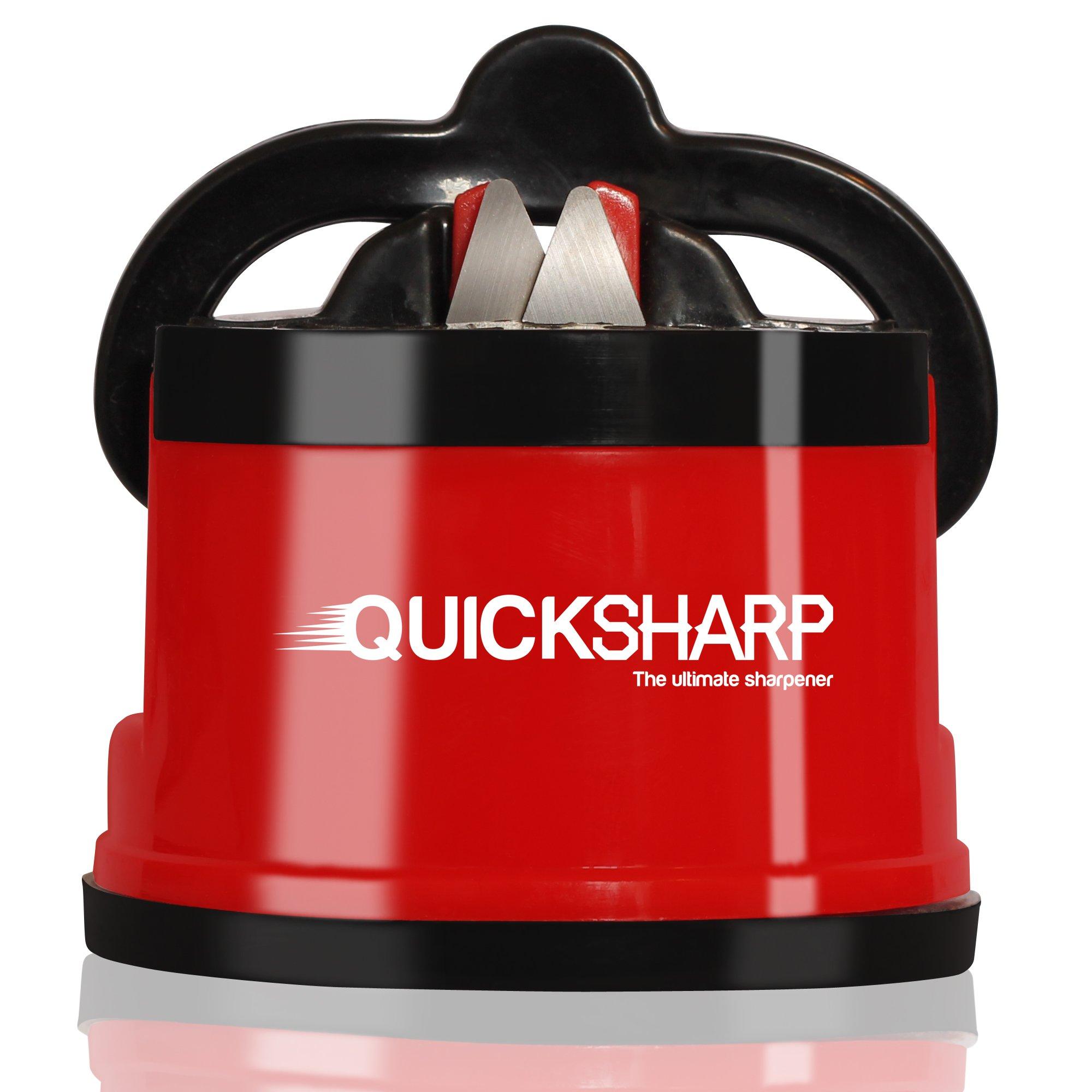 QuickSharp EasyPRO Aiguiseur de Couteaux avec Ventouse Sécurité | Rouge product image