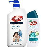 Lifebuoy Body Wash Mild Care, 500 ml + Body Wash Sea Minerals or Matcha, 280 ml Free