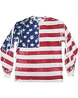 Flag FR900 - Frank Allover American Flag Long Sleeve T-Shirt