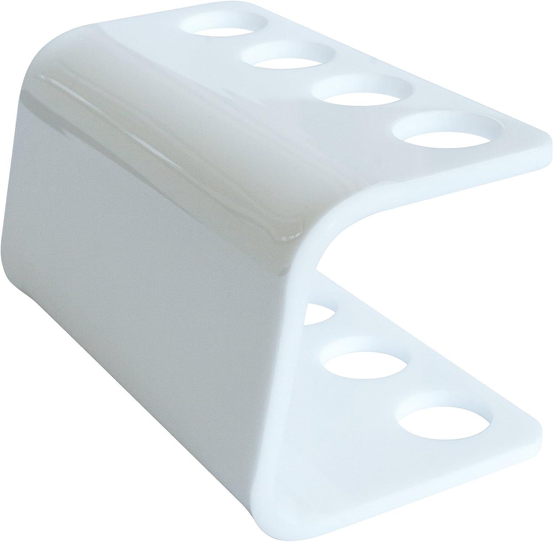 colore bianco o trasparente per testine Oral B supporto per 4 testine plastica bianco Contenitore per testina spazzolino elettrico Seemii